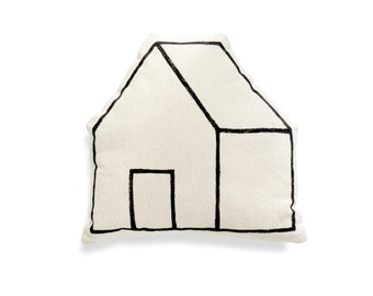 Home Pillow — hand-printed with non-toxic ink, natural cotton, decorative throw pillow for the modern home