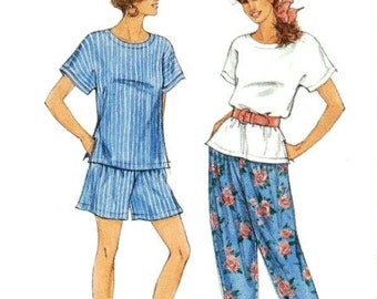 Simplicity Pattern 7810 Easy Top Pants Shorts Size 6-18   UNCUT