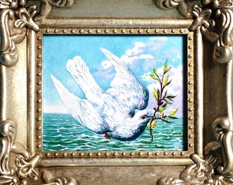 Miniature Framed Print - Dove of Peace