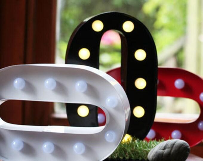 Vintage Carnival Style Light up Letter O