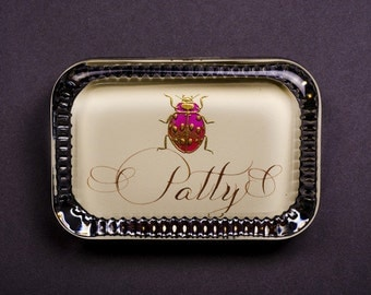 Ladybug with Name Paperweight, Decorative Rectangle