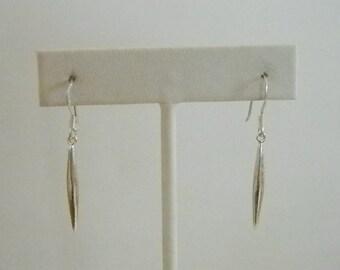 925 Sterling Silver Long Dangle Pierced Earrings