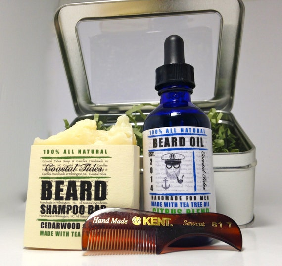 beard kit beard oil beard no shave by coastaltidessoaps on. Black Bedroom Furniture Sets. Home Design Ideas