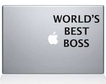 World's Best Boss Macbook Decal (0077-MAC)