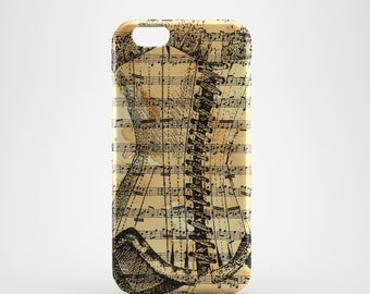 Corset Sheet Music Phone case,  iPhone X Case, iPhone 8 case,  iPhone 6s,  iPhone 7 Plus, IPhone SE, Galaxy S8 case, Phone cover, SS151a