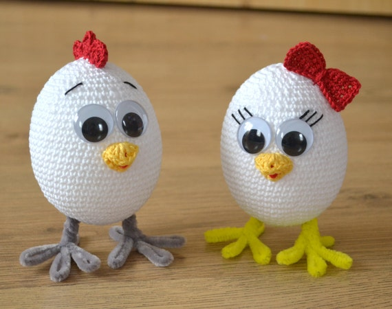 Free Crochet Patterns For Easter Chickens : DIGITAL PATTERN Crochet Chicken Crochet Eggs Crochet Hen/