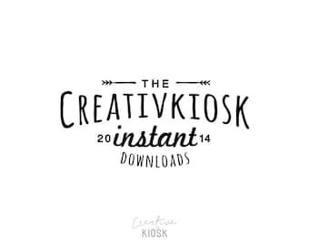 Instant Download Logo. Premade Logo Design. DIY Photography Watermark. Business Logo Template. Editable PSD Photoshop File. #0005.