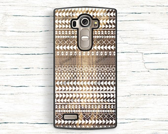 Tribal Ornament Pattern on Wood Texture case for LG G3 G4 G5