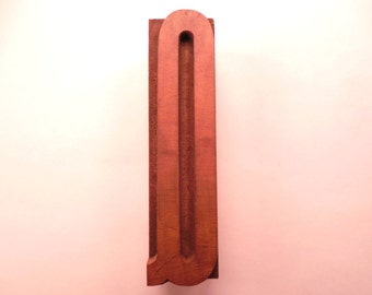 "Vintage Wood Letter ""Q"" Printer's Block 2-1/2"" Tall x 5/8"" Wide"