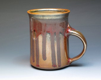 Joe Winter Stoneware Luster Mug, Hand Thrown Coffee Mug, Award Winning Potter, Stoneware Studio Pottery