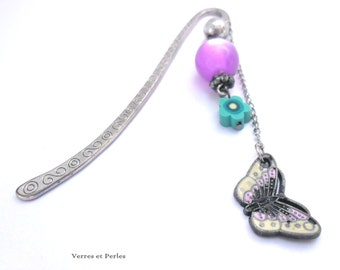 Butterfly and beaded bookmarks
