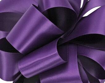 "New 2-1/2"" Regency Double Faced Satin, or 1/12"" Regency Satin Sash, Wide Purple Satin Ribbon 3 Yards"