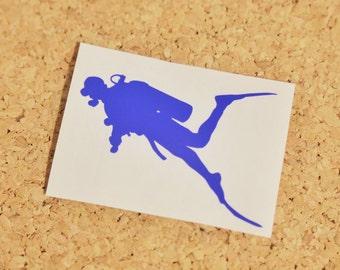 Scuba Diver Laptop Vinyl Decal Sticker