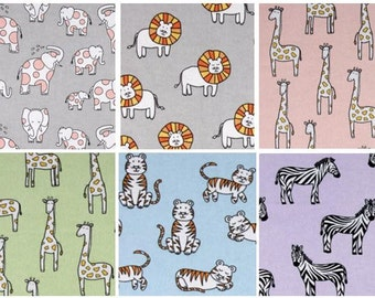 Zoo Flannel Crib Sheet and Toddler Sheet Set