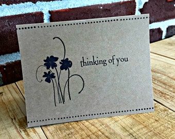 Thinking of You|Thank You Note Card Pack | Handmade Greeting Card Set | Set of 6 | Blank Note Card