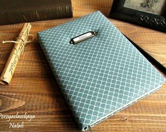Notebook handmade fabric cover, fabric cover notebook, notebook for men