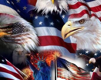 Patriotic American Car Tag