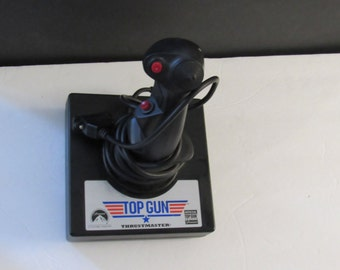 1996 Vintage Thrustmaster's Official TOP GUN Joystick for PC 15 pinned