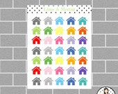 House Mini Icon Planner Stickers