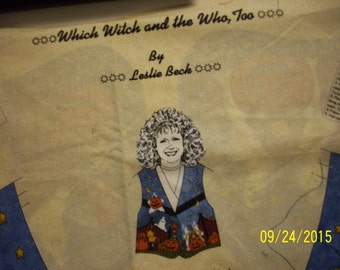 Halloween Vest by Leslie Beck Which Witch & The Who? TOO  to sew can be made in sizes S M L  you pick cute vest