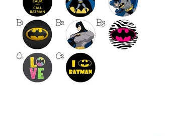 Batman retractable id badge holder- batgirl name badge clip- id badge reel