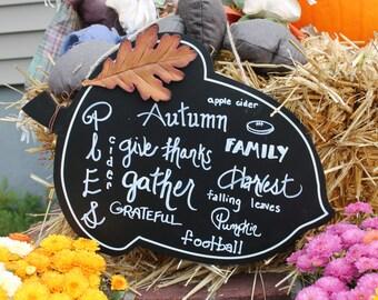 autumn acorn sign