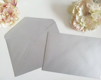 C5 Silver envelopes - C5 envelopes - Silver envelope - Metallic 120gsm  Pure Invites to fit A5 size invitation or cards