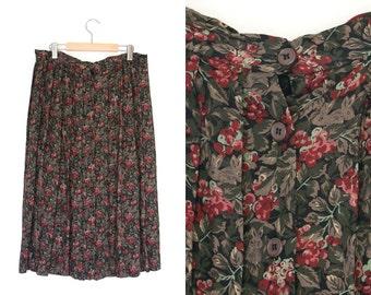 Vintage boho skirt. Long skirt. Gypsy. Bohemian Hippie. Rabbit. Button front.