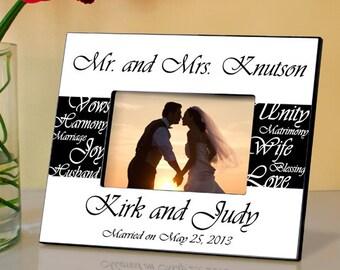 Personalized Wedding Frame Wedding Gift Wedding Shower Frame