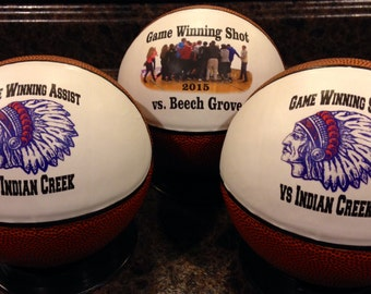 Customized Mini Basketball Gifts, Team Awards, Senior Gifts, Unique Coaches' Gift and Basketball Player Gifts