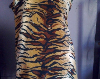 Cave Girl costume,Flintstones,Jane,prehistoric girl,stone age,Tarzan's Jane,jungle girl,wild, Tiger print,mini dress,jagged hem dress