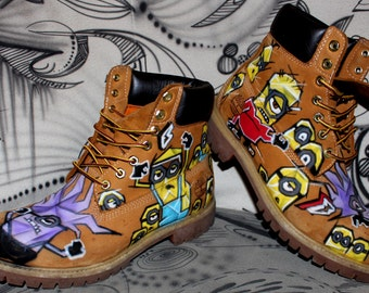 airbrush Timberland Boots Design custom graffiti Style Fashion Sneaker painted