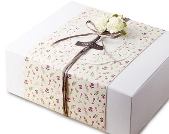 5 x Gift box / White Simple Paper Box / Large Size 5