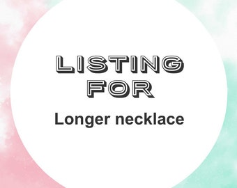 Additional length on necklace