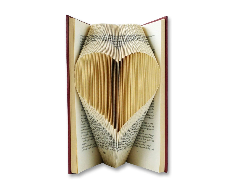 Book Art Wedding Gift : Folded Book Art Wedding gift Paper Anniversary by BookArt4U