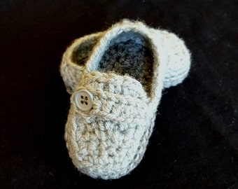 Crochet baby boy shoes, baby boy slippers, baby shoes,  baby boy loafers, baby booties, crib shoes handmade baby gift, baby shower gift
