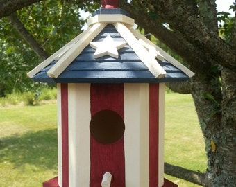 Hand Made, Hand Painted Patriotic Bird House