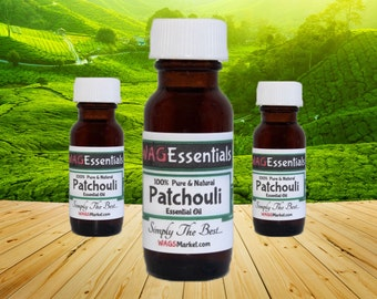 PATCHOULI Essential Oil - (0.5oz / 15 mL) Amber Glass Bottle *** Free U.S. Shipping ***