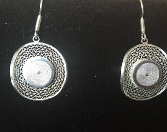 Earrings - earrings filigree silver 980 - 980 filigree silver thread earrings 15% off Promo Code HOLIDAY15 limited time only