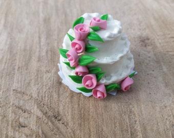 Fairy Food, Fairy Wedding Cake, Miniatures, Dollhouse, Mini Cake, Fairy Accessories, Fairy Garden Supplies, Fairy Garden Kits, Mini Wedding