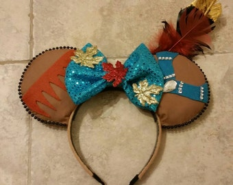 Pocahontas Inspired Mickey Ears
