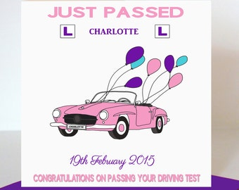 Passed Driving Test Card For Her