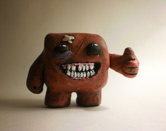 Super Meat Boy Clay Sculpture