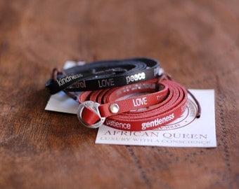 Leather Wrist Wrap Bracelet