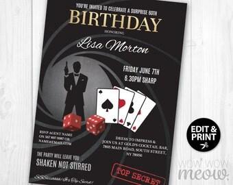 Secret agent invite etsy surprise birthday invite spy secret agent invitation instant download party editable elegant james bond birthday personalize stopboris Choice Image