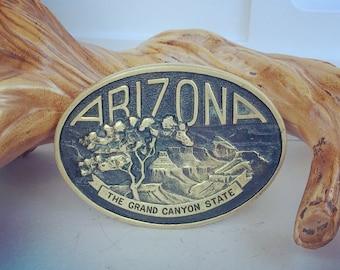 Vintage Arizona State Belt Buckle Grand Canyon State Metal Buckle
