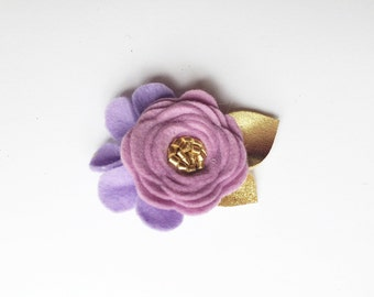 Single flower clip/ Alligator clip