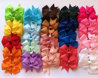 Bow Bundle/ Lot of 40 Bows / 3 inch Bows with Alligator Clip/ Hair Bows for Girls, Baby Girl Bows, Toddler Bows, Infant Bows