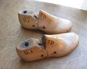 RESERVED -- A Pair of Vintage Childrens Shoe Forms made of Wood