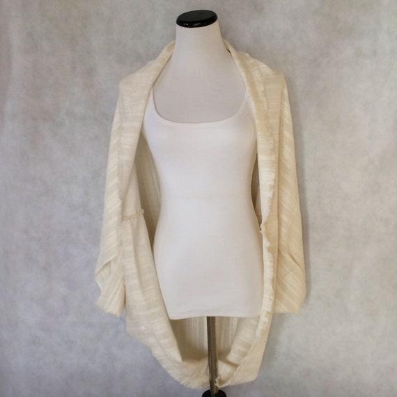 Ivory Cocoon Kimono Shrug Shawl Cardigan Jacket Batwing Wrap